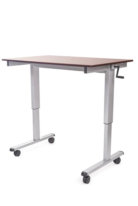 luxor stand up desk luxor 60 quot crank adjustable stand up desk see all styles