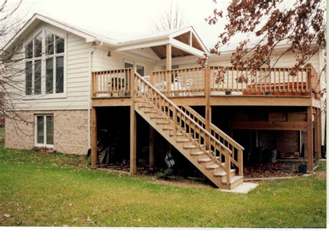 two story deck two story addition with custom deck and tub