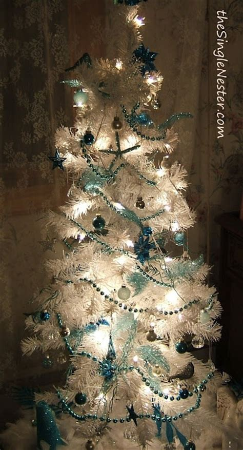 turquoise and white christmas tree all things turquoise