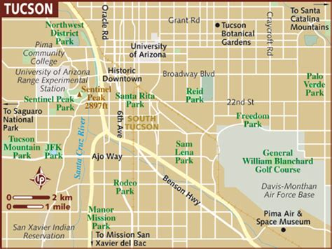 map of tucson tucson map bwzesa 001