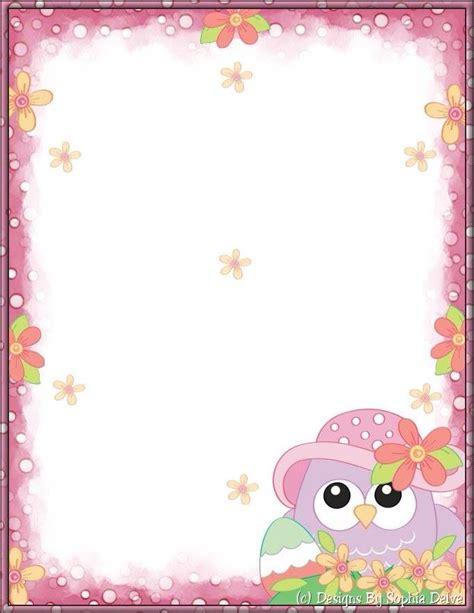 printable owl border paper 23 best owl border paper free printable images on