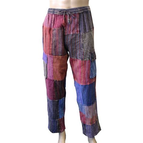 Patchwork Trousers - patchwork combat trousers shiva