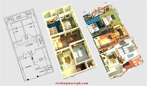 House Planing by 6 Marla House Plans Civil Engineers Pk