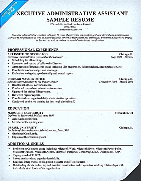 Resume For Administrative Assistant by Best 25 Administrative Assistant Resume Ideas On