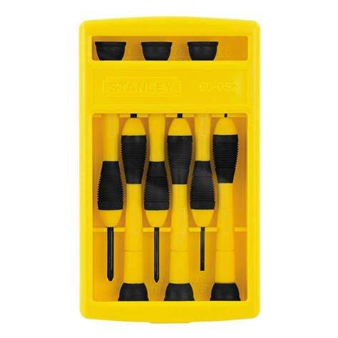 Obeng All In One 6 Set stanley precision screwdriver set 6 66 052 the home depot