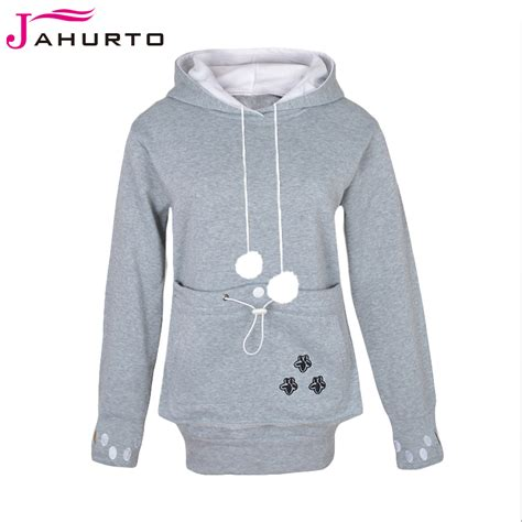 puppy sweatshirt jahurto hooded hoodies lover cats kangaroo hoodie cool sleeve