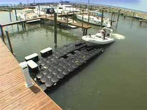 drive on boat dock systems drive on dock demonstration youtube