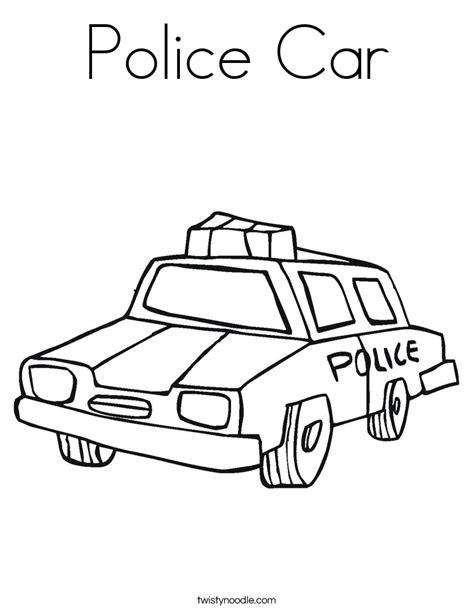 police car coloring page twisty noodle