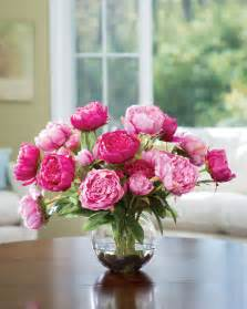 silk flower centerpieces buy customer favorite deluxe peony silk flower centerpiece