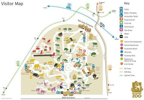 melbourne australia world map melbourne zoo map