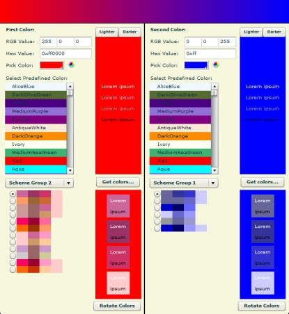 aries color color scheme software downloads color scheme shareware