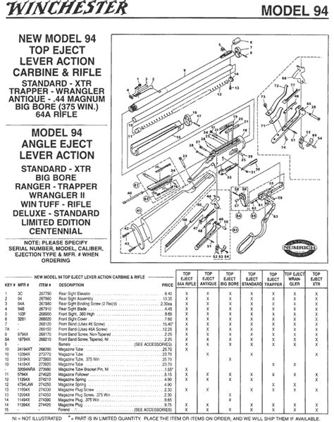 winchester 1894 parts diagram winchester 1894 schematic winchester model 94