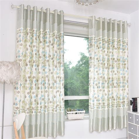 short bay window curtains silver gray floral print polyester short country bay
