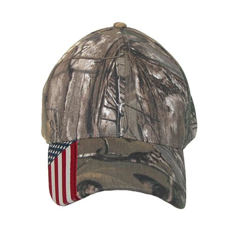 real tree cap xtra camo and american flag baseball hat by realtree