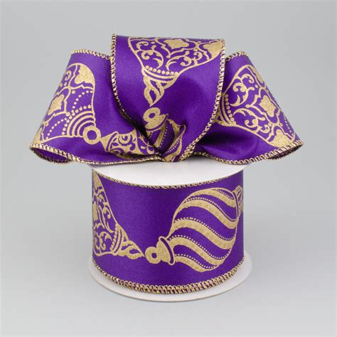 purple christmas ribbon 2 5 quot purple ornament ribbon 10 yards zxm bs68 craftoutlet