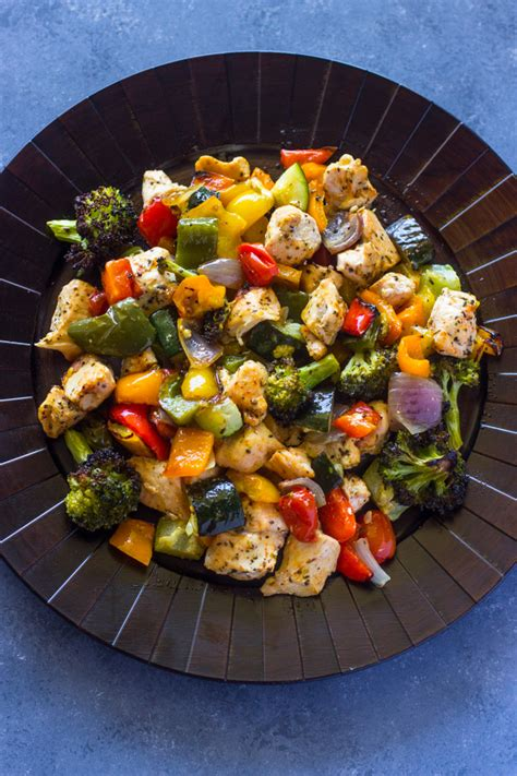 15 minute healthy roasted chicken and veggies one 15 minute healthy roasted chicken and veggies