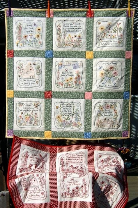 Quilts And Friends by Celebrate Friends With A Charming Quilt Embroidered With