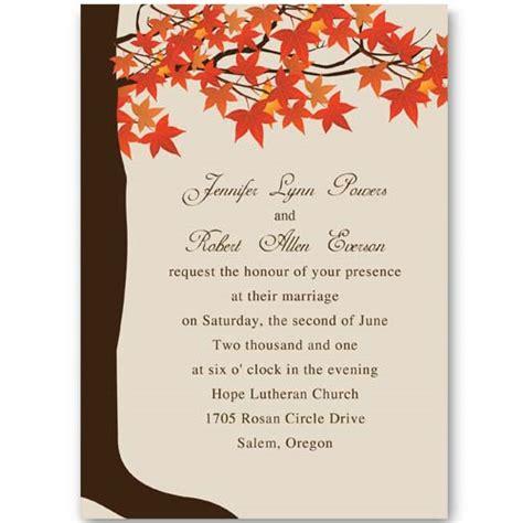 Unique Fall Wedding Invitations by Unique Fall Wedding Invitation Ideas Weddingplusplus
