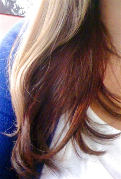 blonde with red underneath and streaks hair pinterest blonde streaks blondes and brown on pinterest of color