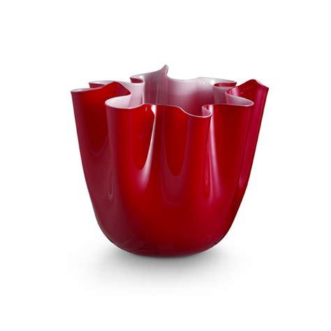 vaso rosso foulard vaso rosso vasi in vetro di murano i muranesi