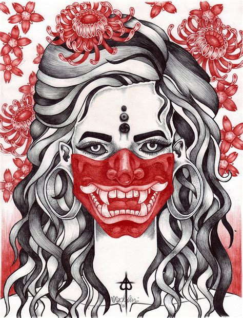 hannya mask tattoo wallpaper talk to the hannya by saywhatsayrachel on deviantart
