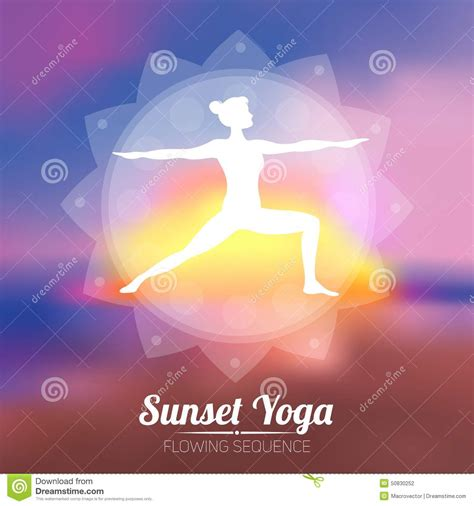 Yoga Plakat Kostenlos by Sonnenuntergang Yoga Plakat Vektor Abbildung