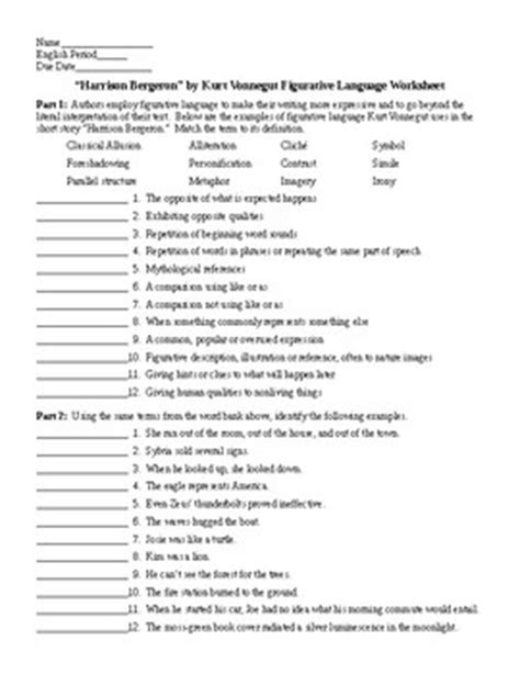 figurative language review worksheet figurative language review worksheet worksheets for school getadating