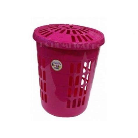 58 L Plastic Laundry Basket Round Laundry Linen Basket Bin Plastic Laundry