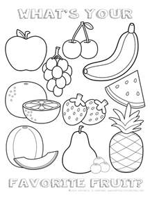 free nutritious food for coloring pages