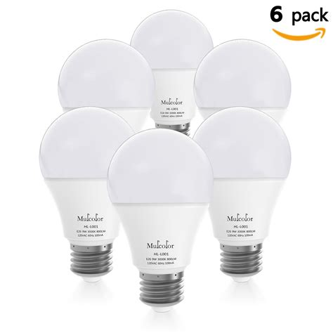 led light bulbs 60 watt equivalent bellemuse 486 led light bulbs 60 watt equivalent pack of 6