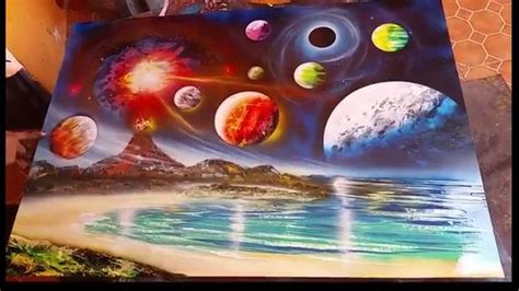 Sprei My Website planets and volcano spray spray paint