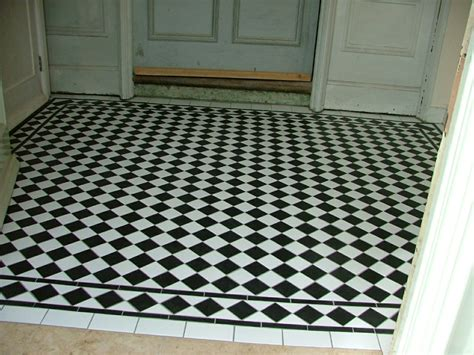 black patterned floor tiles black and white floor tiles ideas with images