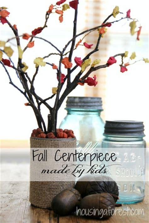 centerpiece craft fall centerpiece craft for housing a forest