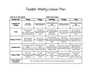 Lesson Plan Template For Infants by Toddler Lesson Plan Template 10 Free Word Excel Pdf