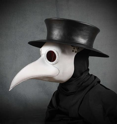 How To Make A Plague Doctor Mask With Paper Mache - plague doctor s mask maximus in white leather