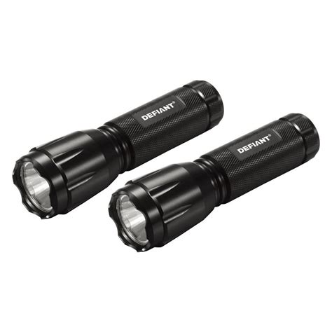 defiant 120 lumens led flashlights 2 pack hd13q415 the