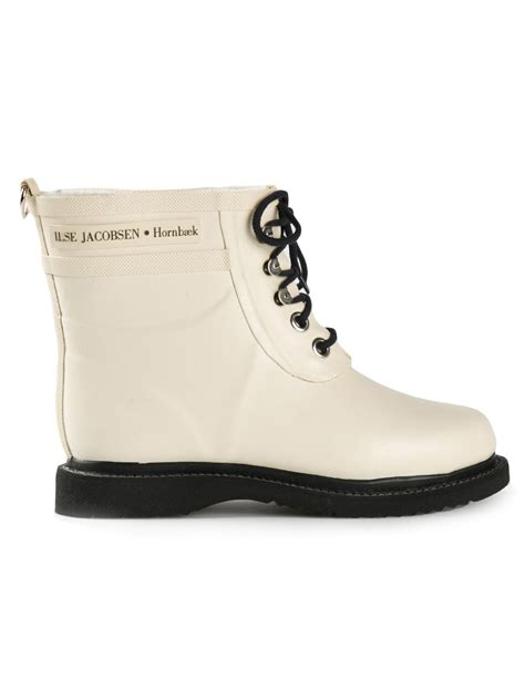 ilse jacobsen shoes ilse jacobsen rub2 boots in white lyst