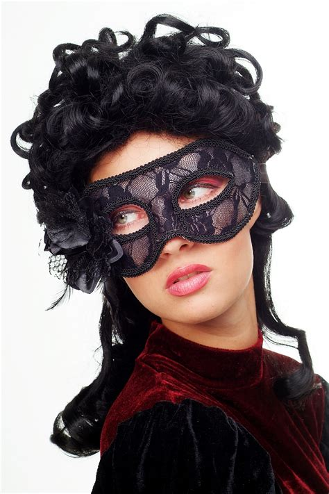 Venetian Ls by Carnival Venetian Mask Half Mask Domino Black Masked