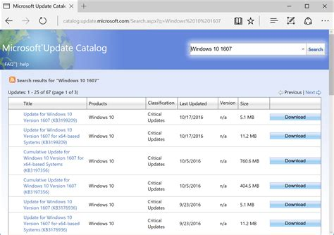 Update Microsoft microsoft update catalog site updated windows for it pros