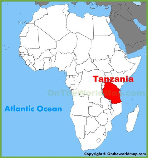 tanzania on the map tanzania location on the africa map