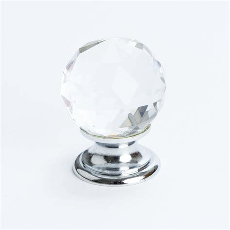 Going Knobs by Knob Faceted W Chrome Post 30mm 7042 926 C
