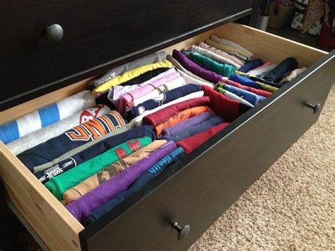 Folding T Shirts For Drawers by Filing The T Shirts Core77