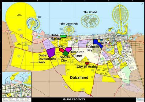 map of world dubai dubai uae tourist destinations
