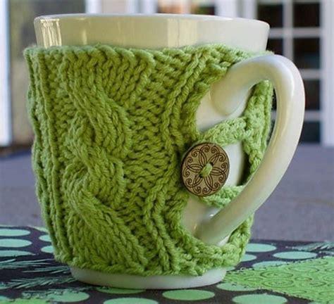 knitted mug cosy free pattern knitting cosy tea
