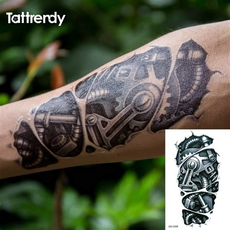cool temporary tattoos aliexpress buy temporary tattoos 3d black robot