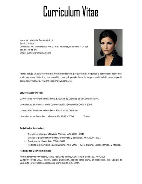 Modelo Curriculum Vitae Para Hacer Como Hacer Un Curriculum Vitae Imagenes De Como Hacer Un Curriculum Vitae Cv