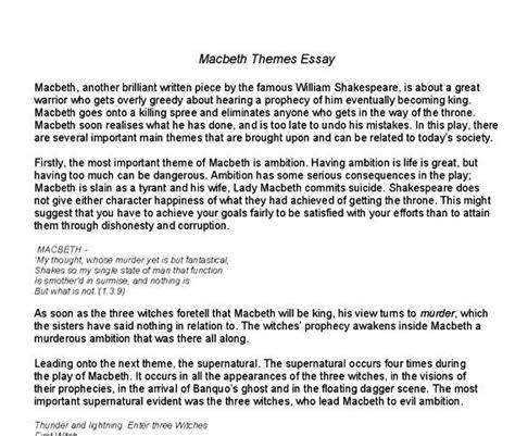 essay macbeth macbeth essay thesis macbeth tragic hero essay thesis