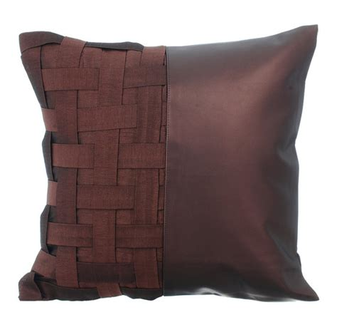 leather accent pillows for sofa decorative throw pillow cover accent pillow couch sofa leather