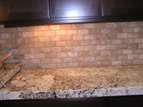 travertine backsplash kitchen tile pinterest