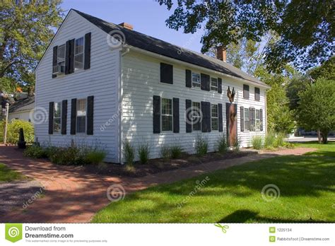 white colonial homes large white colonial home stock images image 1225134